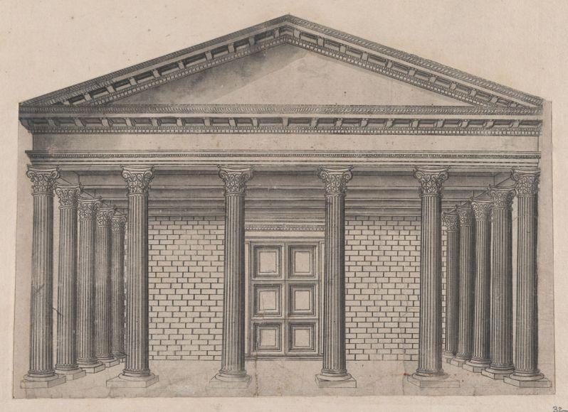 Speculum Romanae Magnificentiae - Maison antique a Nymmes