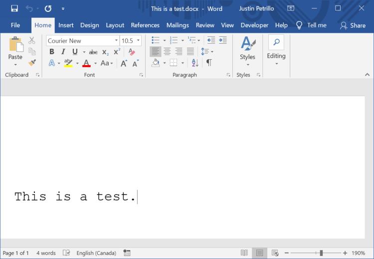 3 word document