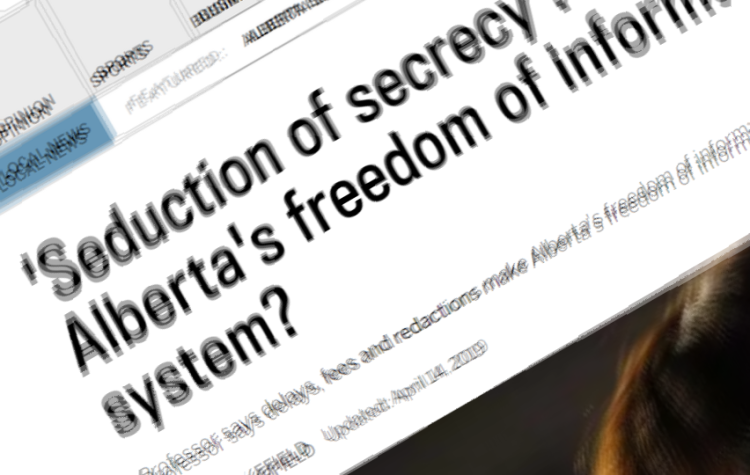 Alberta FOI article