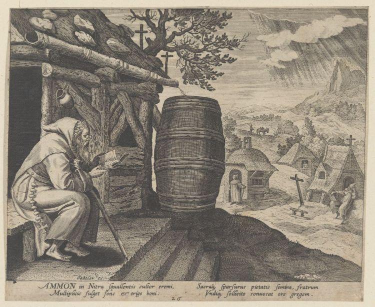 Ammon, from the series Solitudo Sive Vitae Patrum Eremicolarum (Maerten de Vos)